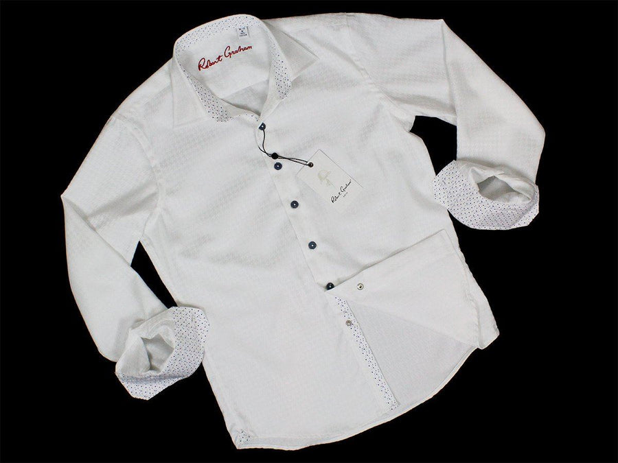 Boy's Sport Shirt 23632 White Boys Sport Shirt Robert Graham