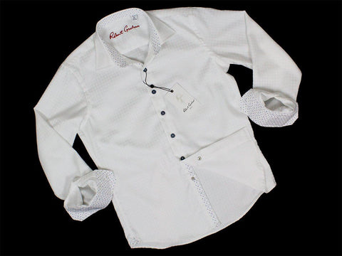 Image of Boy's Sport Shirt 23632 White Boys Sport Shirt Robert Graham