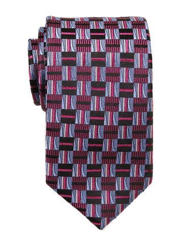 Heritage House 23700 100% Silk Boy's Tie - Check Pattern - Blue / Navy / Pink Boys Tie Heritage House