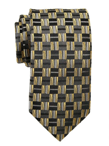 Heritage House 23704 100% Woven Silk Boy's Tie - Check Pattern - Gold/Gray/Khaki Boys Tie Heritage House