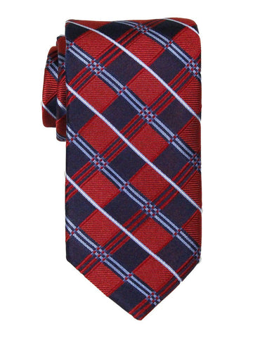 Heritage House 23711 100% Woven Silk Boy's Tie - Plaid - Red/Navy/Blue Boys Tie Heritage House
