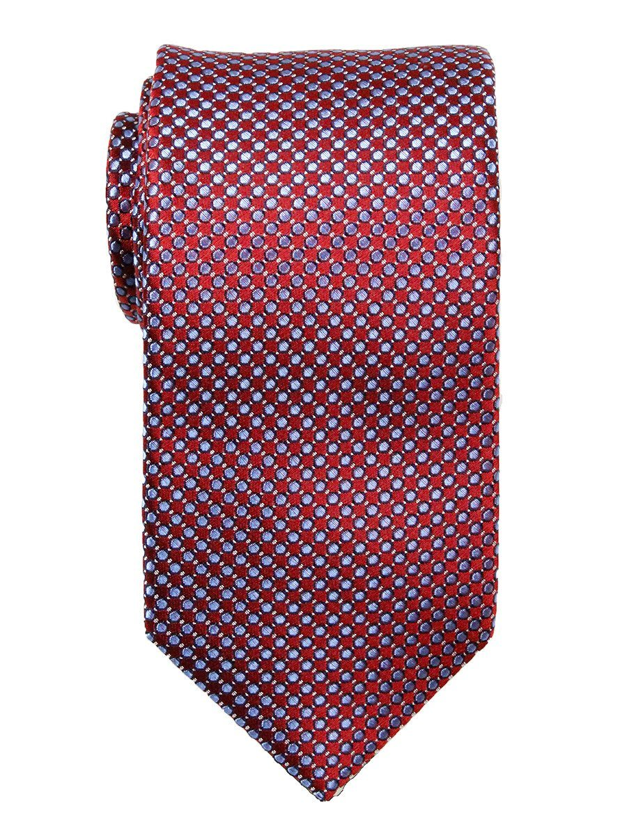Heritage House 23720 100% Woven Silk Boy's Tie - Neat - Blue/Red Boys Tie Heritage House