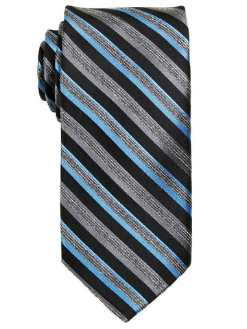 Heritage House 23745 100% Silk Boy's Tie - Neat - Black / Blue / Gray Boys Tie Heritage House