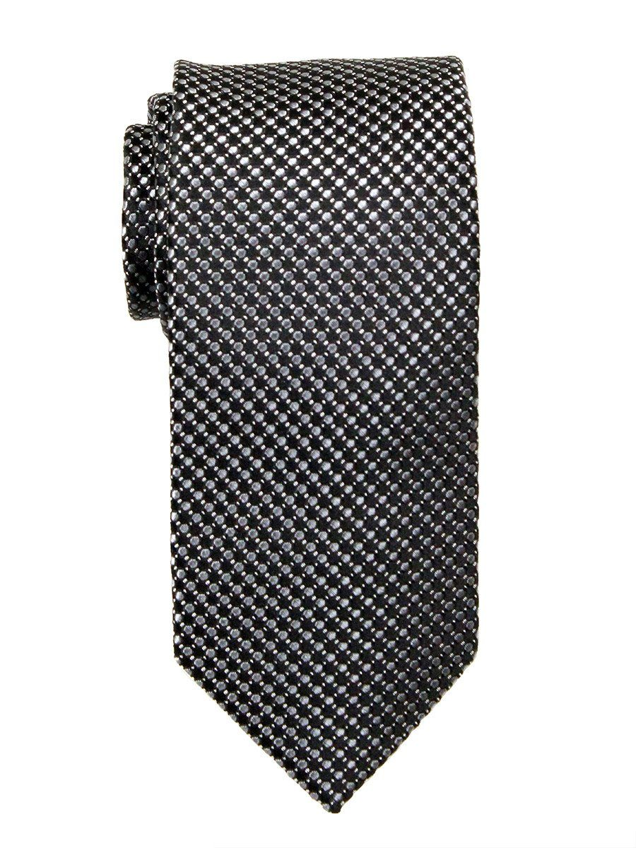 Heritage House 23750 100% Woven Silk Boy's Tie - Neat - Black/Gray Boys Tie Heritage House