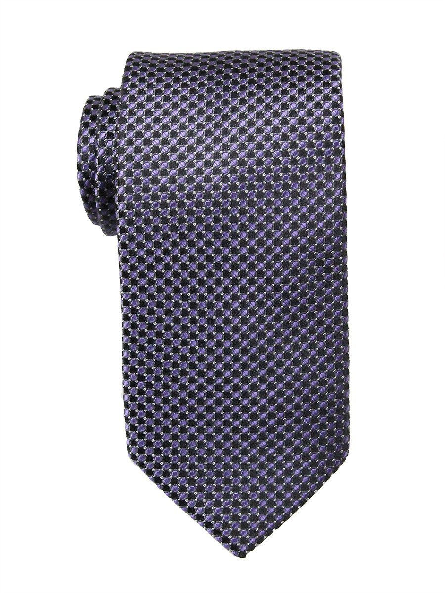 Heritage House 23752 100% Woven Silk Boy's Tie - Neat - Black/Purple Boys Tie Heritage House