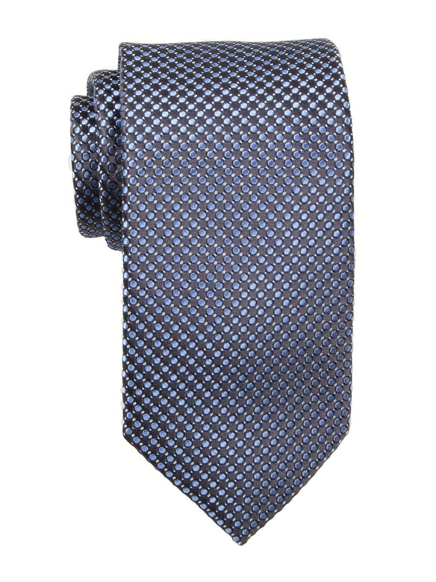 Heritage House 23758 100% Woven Silk Boy's Tie - Neat - Gray/Blue