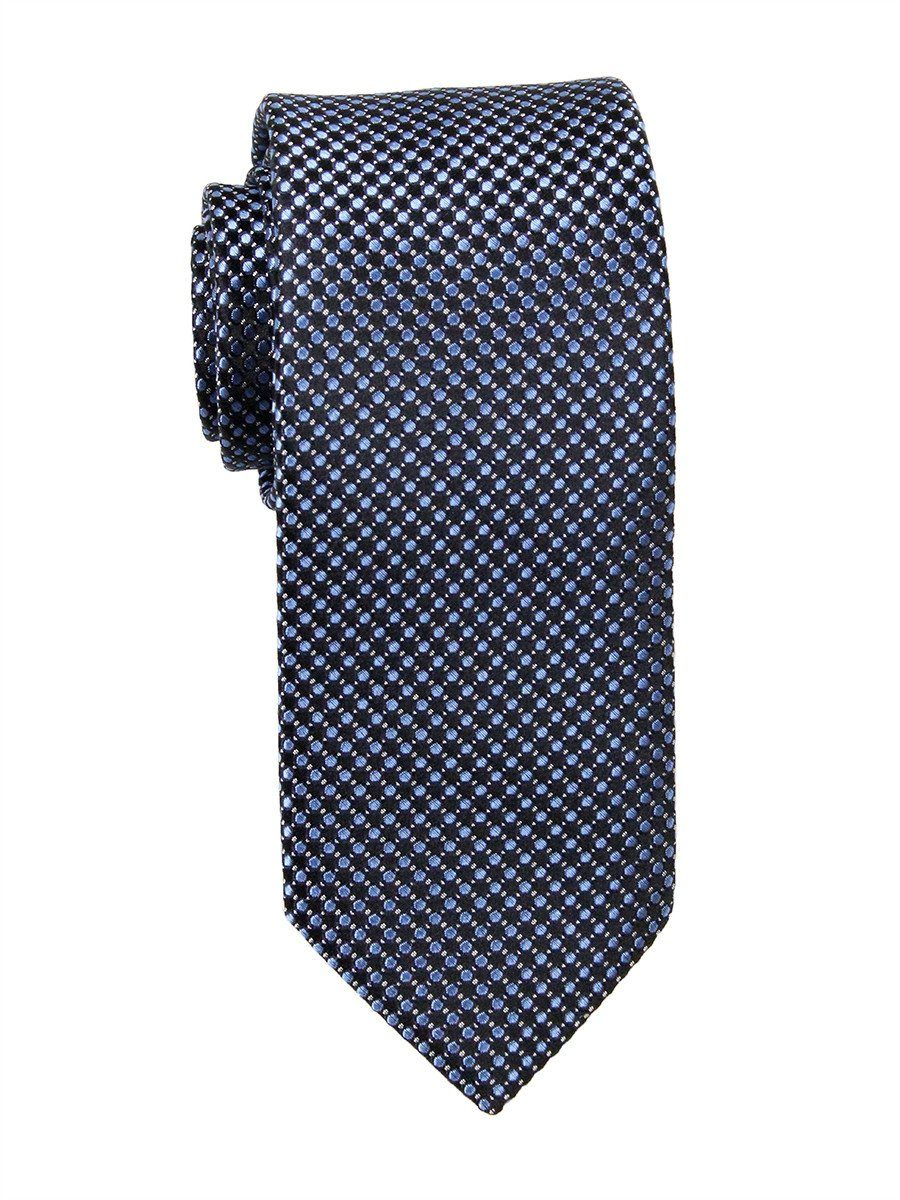 Heritage House 23759 100% Woven Silk Boy's Tie - Neat - Black/Blue Boys Tie Heritage House
