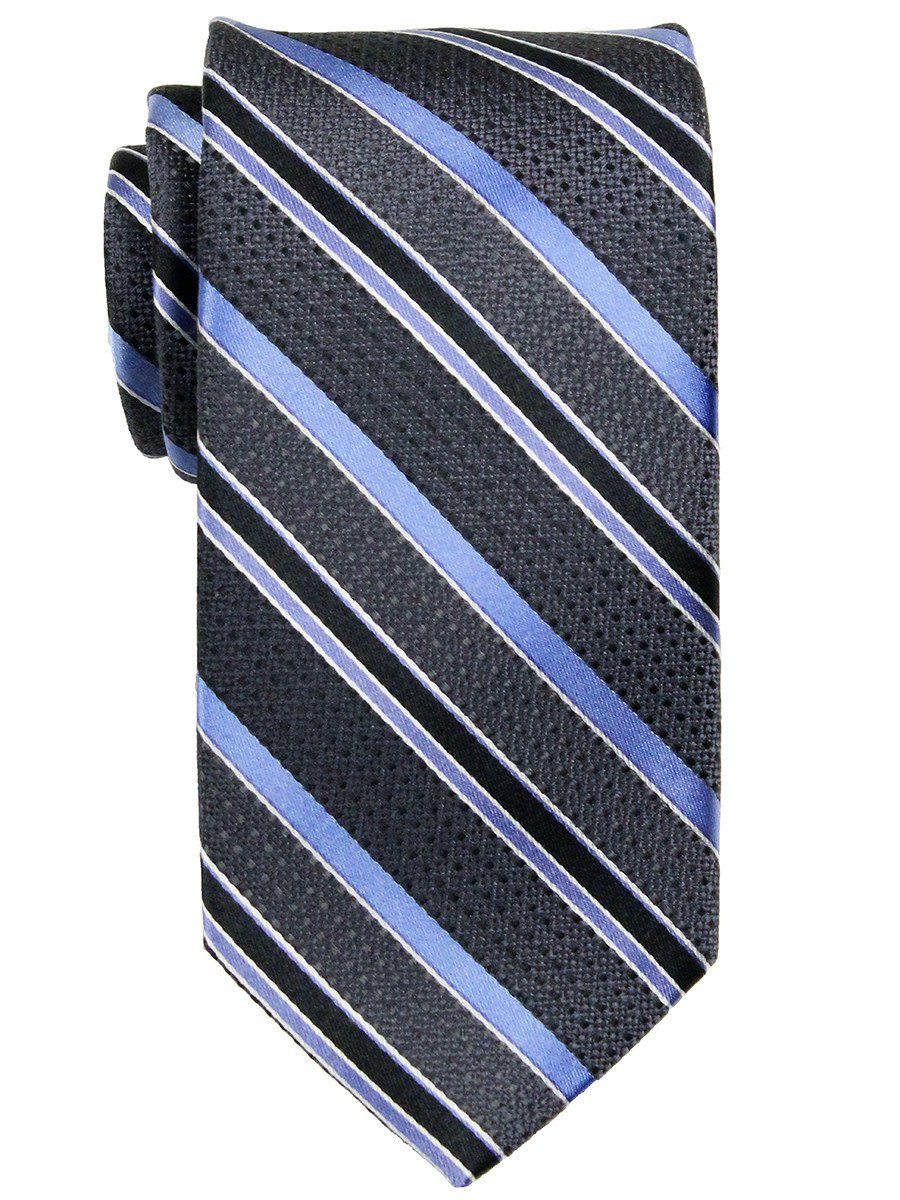 Heritage House 23768 100% Woven Silk Boy's Tie - Stripe Pattern - Blue/Silver/Black Boys Tie Heritage House