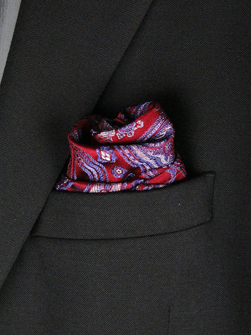 Boy's Pocket Square 23782 Red/Blue Boys Pocket Square Heritage House