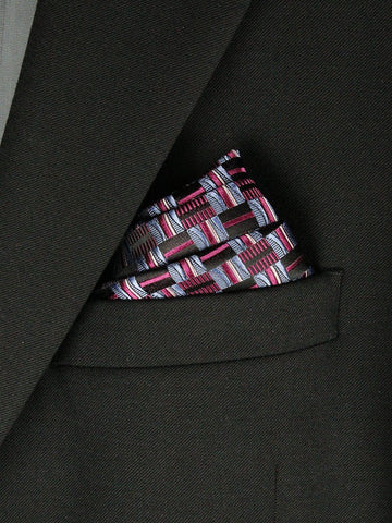 Boy's Pocket Square 23785 Blue/Navy/Pink Boys Pocket Square Heritage House