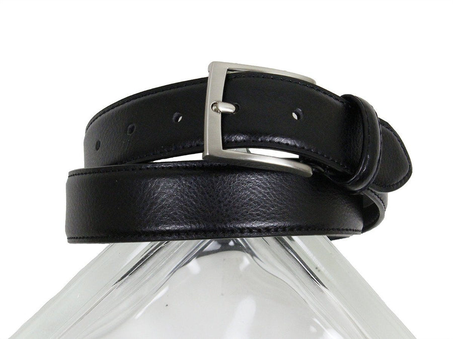 Florsheim 23924 100% Genuine Leather Boy's Belt - Pebble Grain Finish - Black Boys Belt Florsheim