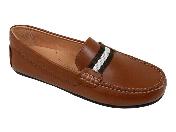Boy's Shoe 23948 Cognac Driver with Ribbon