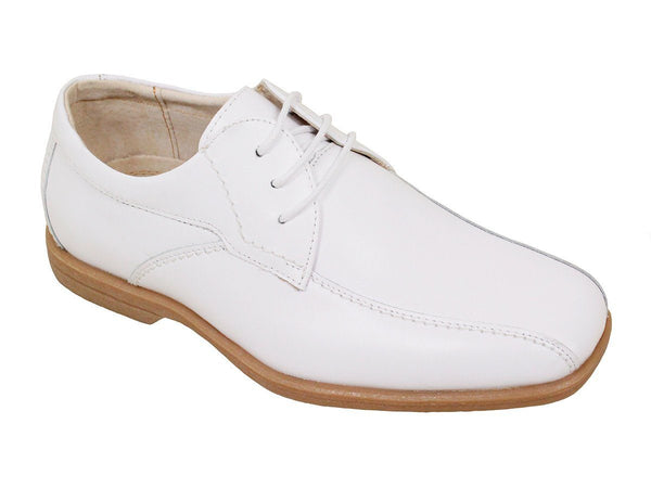 Florsheim 23966 Leather Boy's Shoe - Oxford - Bycicle Toe - White