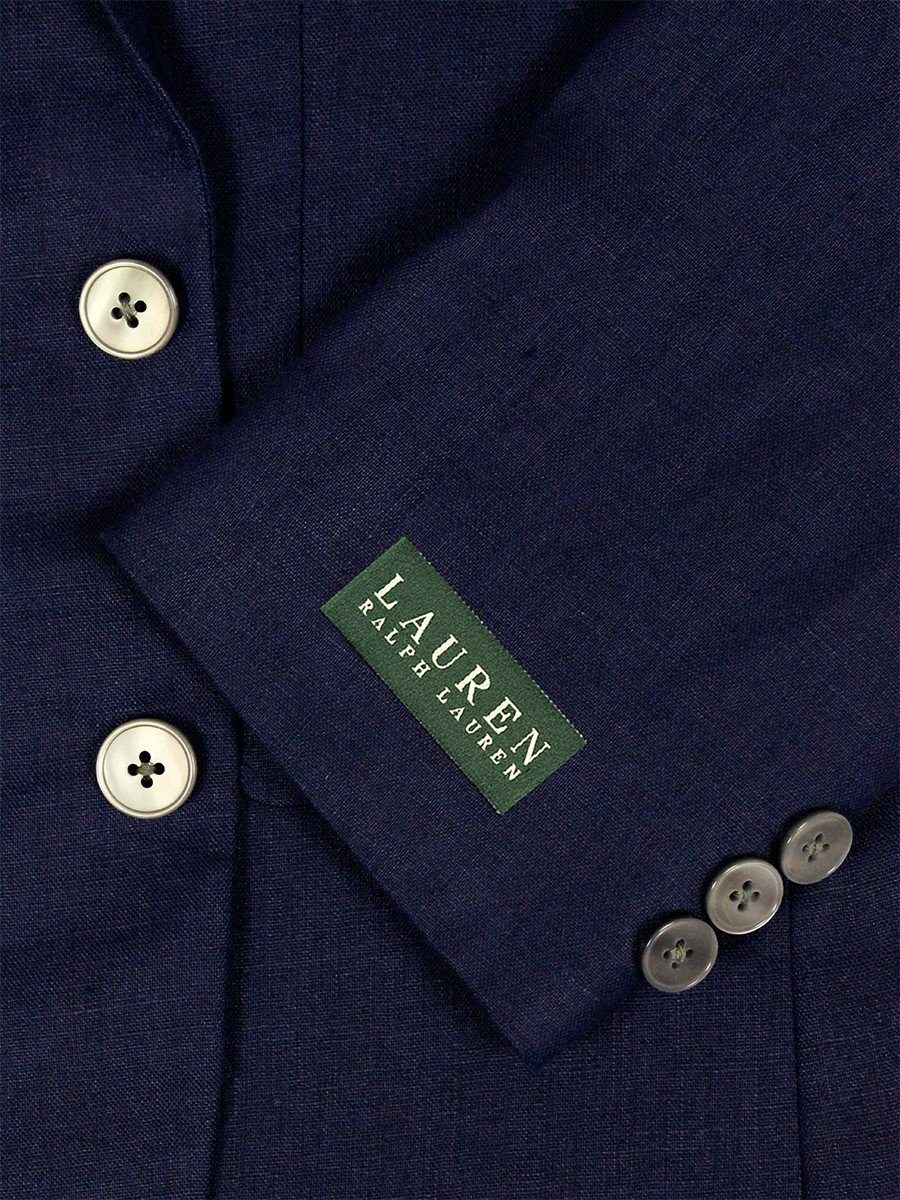 Lauren Ralph Lauren 23993 100% Linen Boy's Suit Separate Jacket - Solid Linen - Navy Boys Suit Separate Jacket Lauren