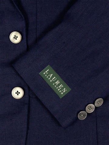 Image of Lauren Ralph Lauren 23993 100% Linen Boy's Suit Separate Jacket - Solid Linen - Navy Boys Suit Separate Jacket Lauren