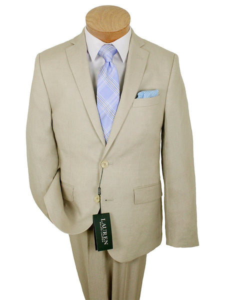 Lauren Ralph Lauren 24000 100% Linen Boy's Suit Separate Jacket - Solid Linen - Tan