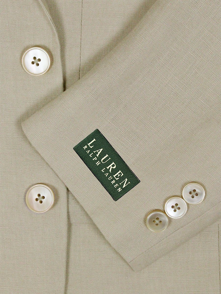 Lauren Ralph Lauren 26115 100% Linen Boy's Suit Separate Jacket - Solid Linen - Tan Boys Suit Separate Jacket Lauren
