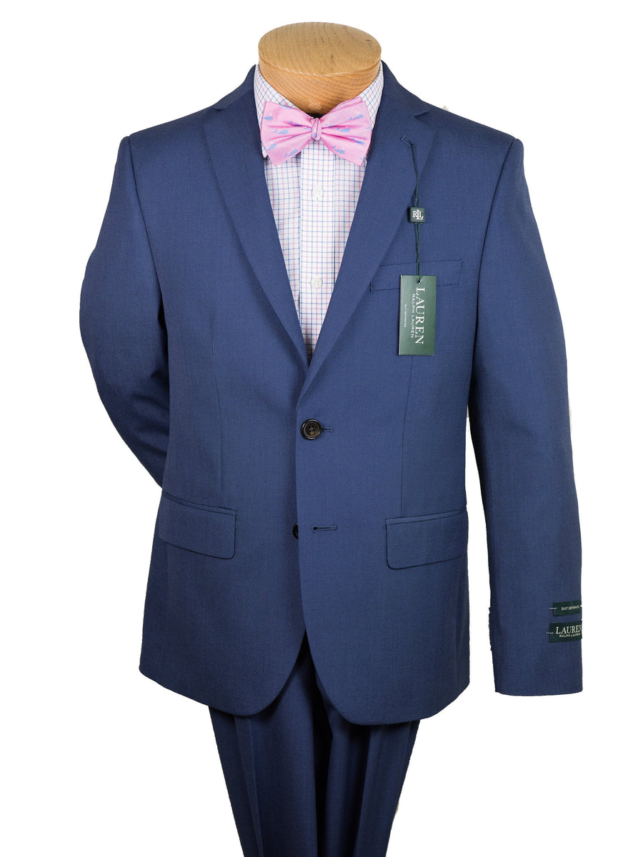 Lauren Ralph Lauren 24077 65% Polyester/35% Rayon Boy's Suit Separate Jacket - Pinhead - Bright Navy Boys Suit Separate Jacket Lauren