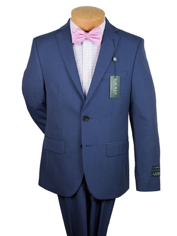 Image of Lauren Ralph Lauren 24077 65% Polyester/35% Rayon Boy's Suit Separate Jacket - Pinhead - Bright Navy Boys Suit Separate Jacket Lauren