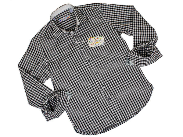 Boy's Sport Shirt 24172 White/Black