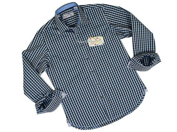 Boy's Sport Shirt 24177 Blue