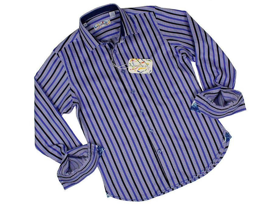 Boy's Sport Shirt 24182 Navy Boys Sport Shirt Brandolini