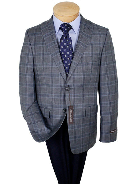 Michael Kors 24285 100% Wool Boy's Sport Coat - Plaid - Gray