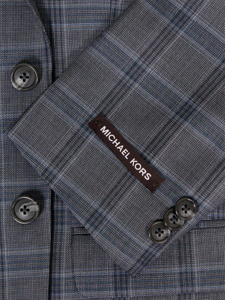 Michael Kors 24285 100% Wool Boy's Sport Coat - Plaid - Gray Boys Sport Coat Michael Kors