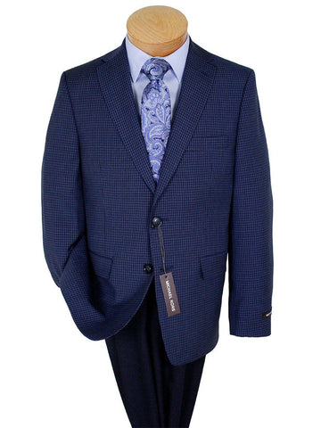 Image of Michael Kors 24292 100% Wool Boy's Sport Coat - Check - Navy Boys Sport Coat Michael Kors