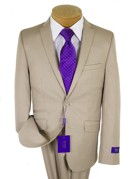 Tallia Purple 24325 76% Polyester/24% Rayon Skinny Fit Boy's Suit - Poplin - Tan