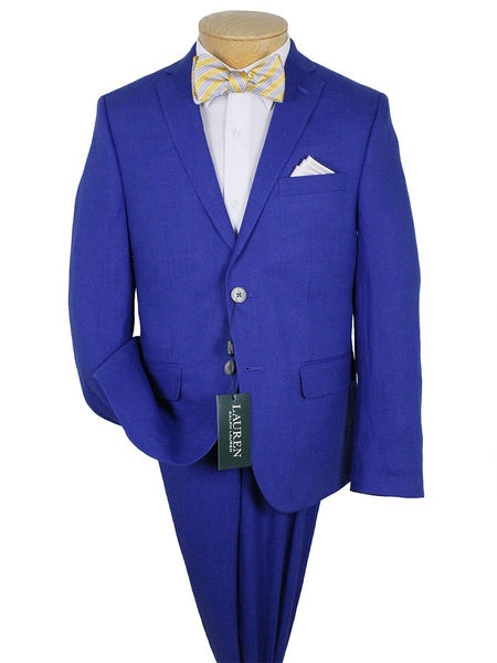 Lauren By Ralph Lauren 24362 100% Linen Suit Separate Jacket - Solid - Bright Blue