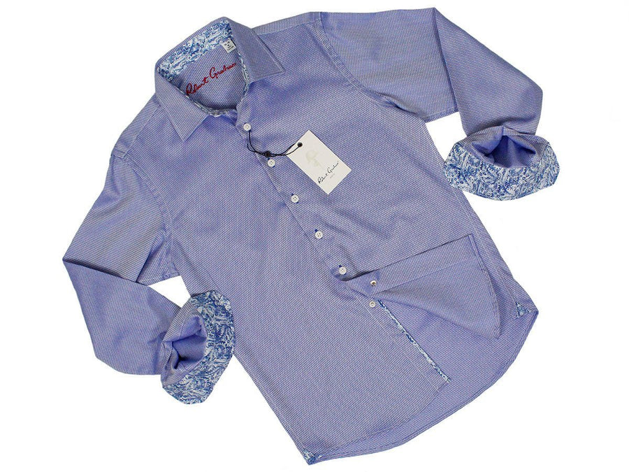 Robert Graham 24394 100% Cotton Boy's Dress Shirt - Dobby - Blue Boys L/S Woven Robert Graham