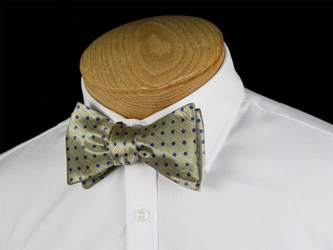 Boy's Bow Tie 24432 Brass/Blue Boys Bow Tie Heritage House