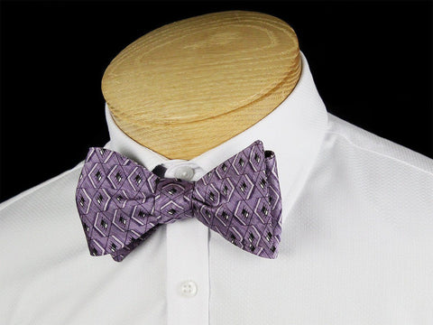 Boy's Bow Tie 24433 Purple/Black Boys Bow Tie Heritage House