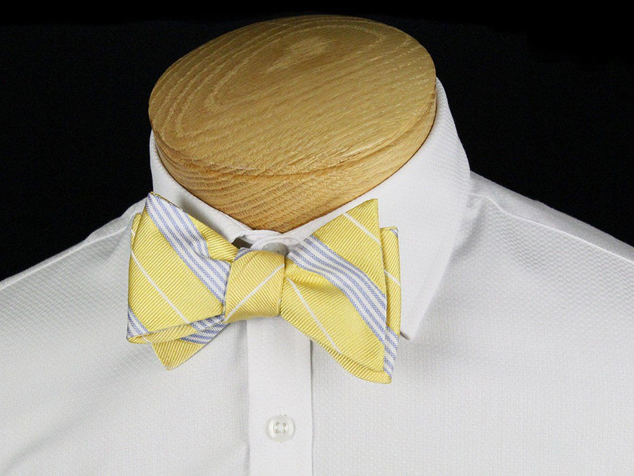 Boy's Bow Tie 24439 Yellow/Blue Boys Bow Tie Heritage House