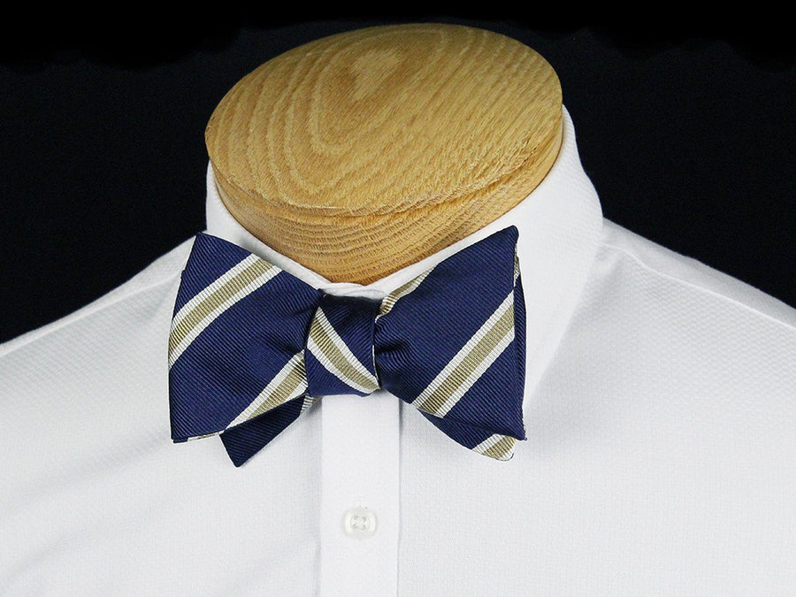 Boy's Bow Tie 24441 Navy/Khaki Boys Bow Tie Heritage House