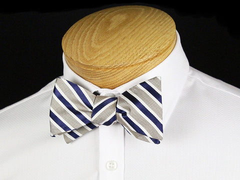 Boy's Bow Tie 24442 Khaki/Navy Boys Bow Tie Heritage House