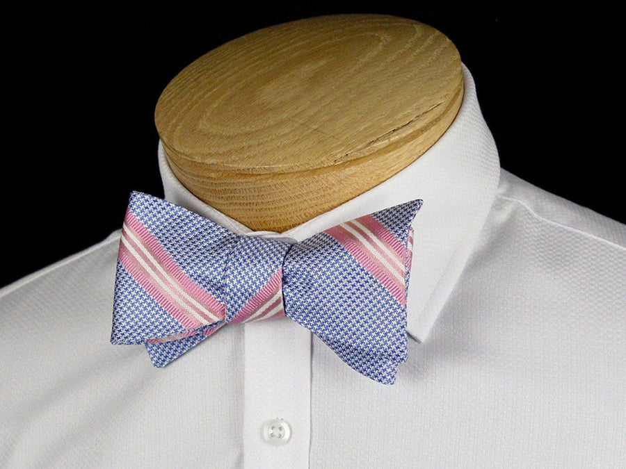 Boy's Bow Tie 24449 Blue/Pink Boys Bow Tie Heritage House