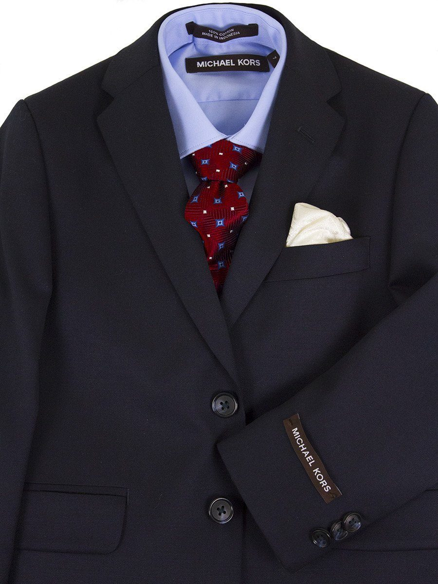 Michael Kors 24467 100% Wool Suit - Solid - Navy