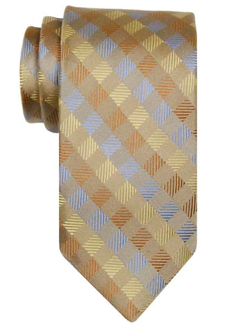 Heritage House 24476 100% Silk Boy's Tie - Neat Plaid- Tan Boys Tie Heritage House