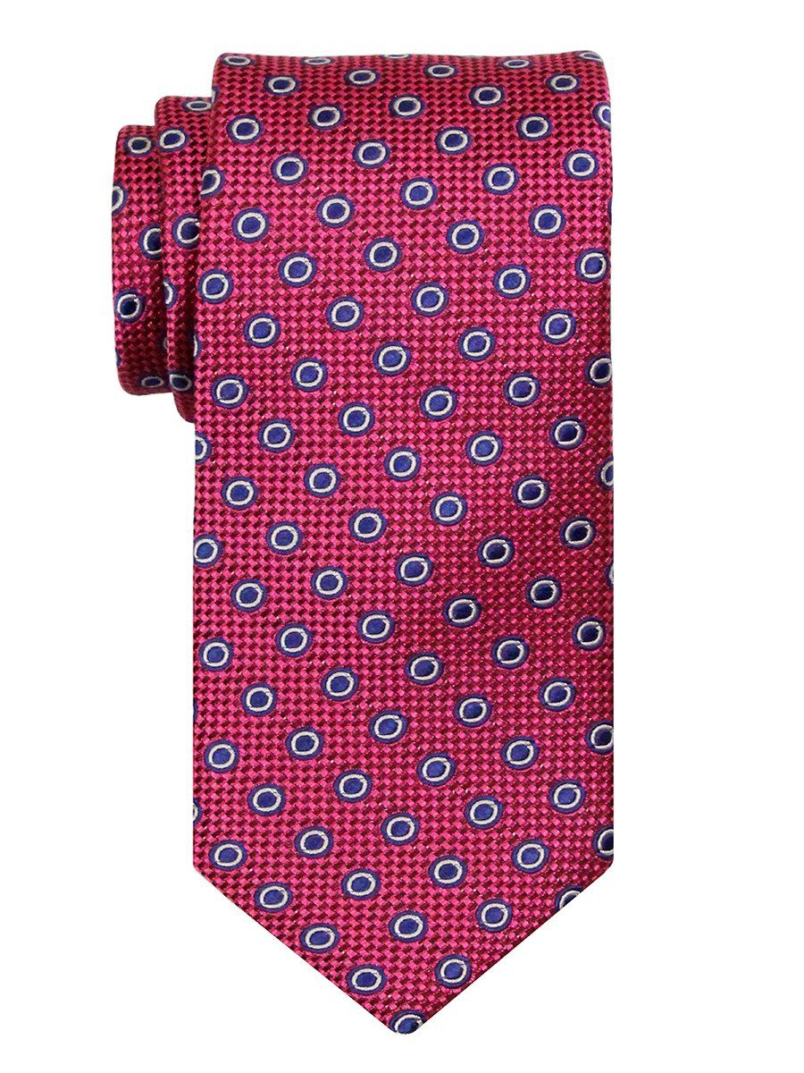 Heritage House 24486 100% Silk Boy's Tie - Neat Rings - Pink