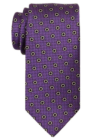 Heritage House 24488 100% Silk Boy's Tie - Neat Rings - Purple Boys Tie Heritage House