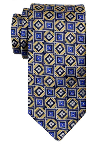 Heritage House 24496 100% Silk Boy's Tie - Geometric Squares - Blue Boys Tie Heritage House