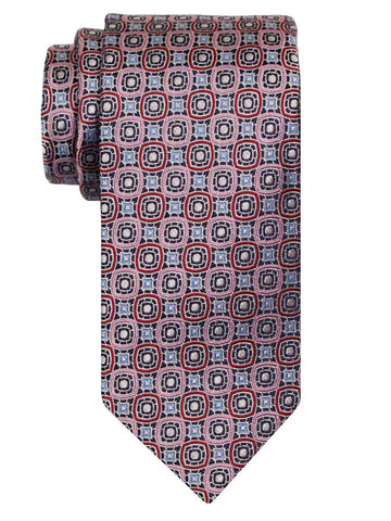 Heritage House 24502 100% Silk Boy's Tie - Neat - Pink Red Boys Tie Heritage House