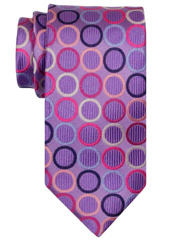 Heritage House 24510 100% Silk Boy's Tie - Rings - Purple Boys Tie Heritage House