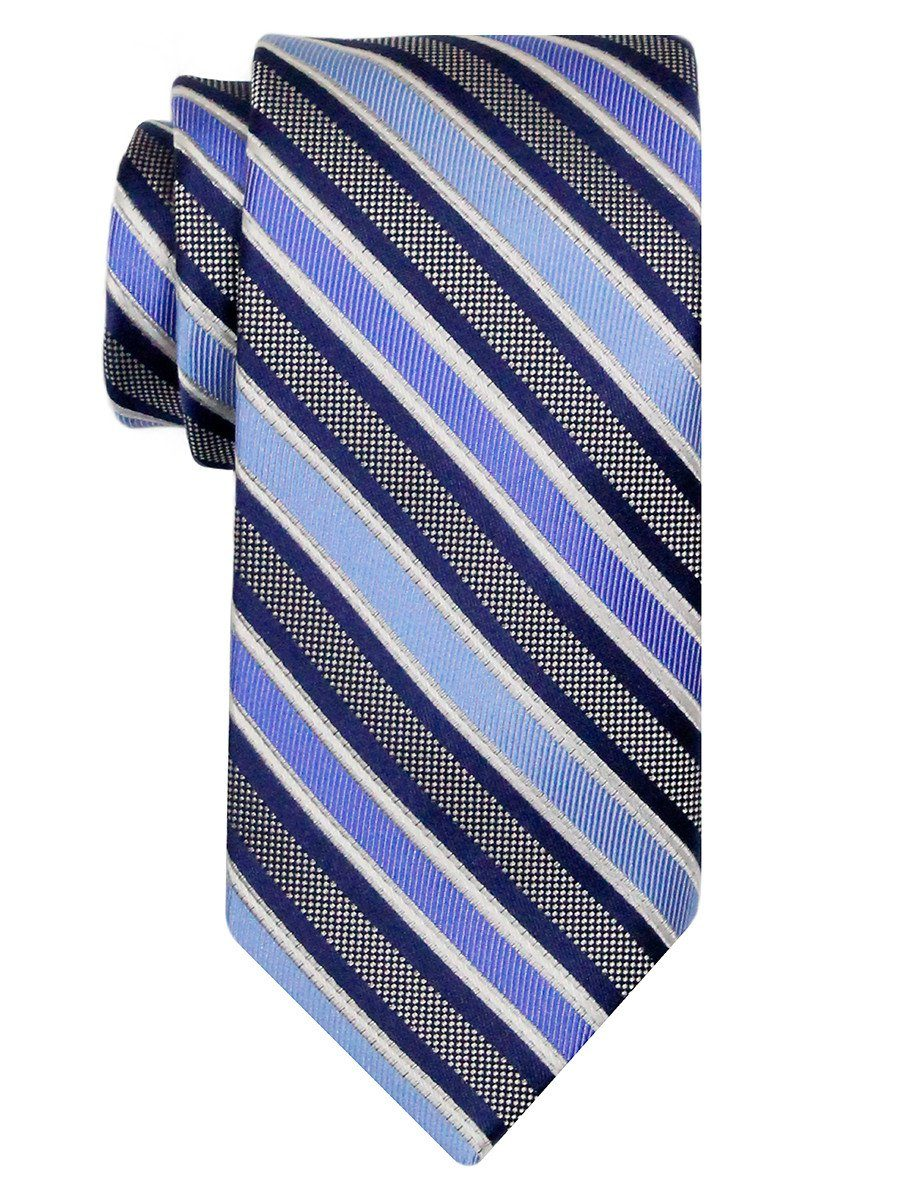 Heritage House 24516 100% Silk Boy's Tie - Stripe - Blue