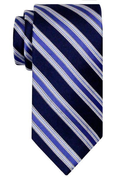 Heritage House 24526 100% Silk Boy's Tie - Stripe - Navy