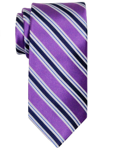 Heritage House 24528 100% Silk Boy's Tie - Stripe - Purple Boys Tie Heritage House