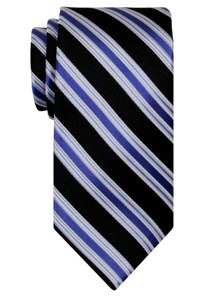 Heritage House 24534 100% Silk Boy's Tie - Stripe - Black