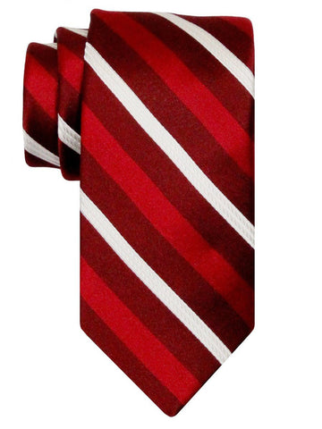 Heritage House 24545 100% Silk Boy's Tie - Stripe - Red Boys Tie Heritage House